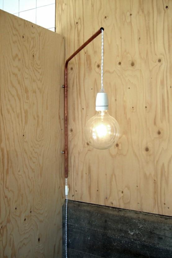 Progettazione Casa su Misura  ArchitettaMI » lampada con tubo di rame